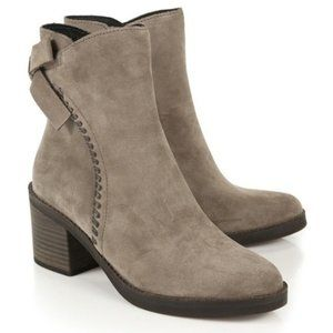 UGG Fraise Taupe Suede Leather Ankle Boots A6